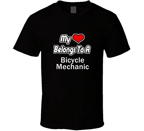 Heart Belongs To a Bicycle Mechanic T Shirt