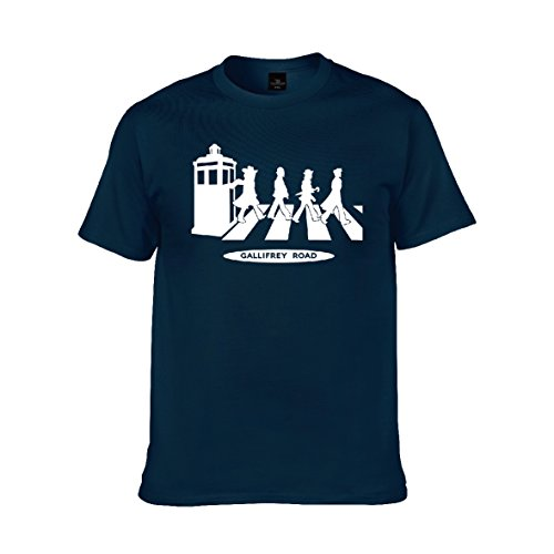 Doctor Who Eco Friendly Easy Wear Vintage Loose Design Tshirt Navy M