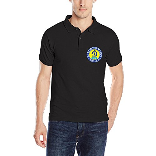 Kyiv Football Club Guys Short Sleeve Polo Tees Black