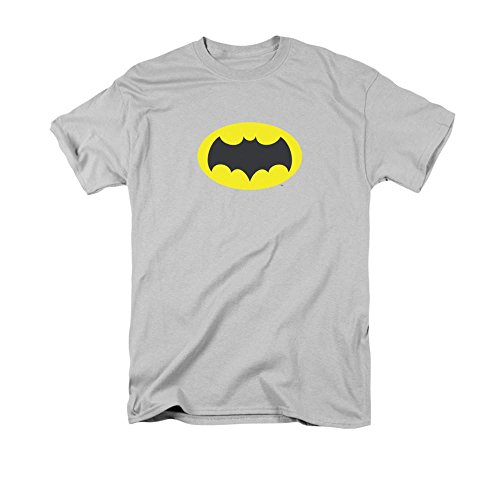 Bros. Batman 1966 Chest Logo Silver Graphic Tee T-Shirt
