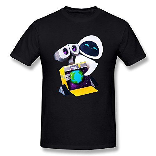Eve And WALL-E Tshirt Large Black
