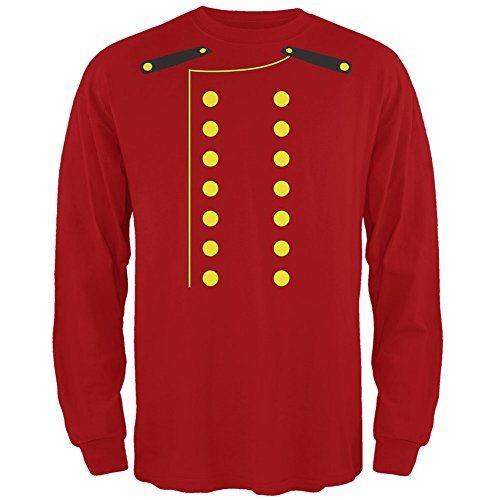 Hotel Bellhop Costume Red Long Sleeve T-Shirt Large