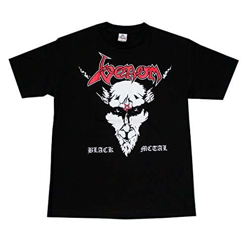 Black Metal Rock Band T-Shirt Red Logo
