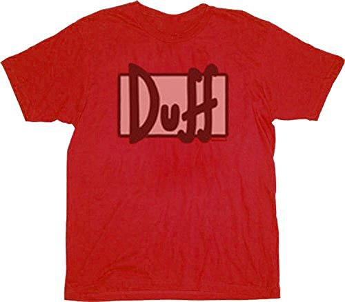 Simpsons Worn Out Duff Beer Logo Red T-shirt Tee