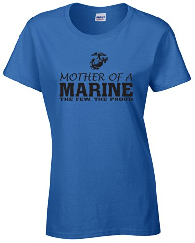 Up Tees Mother of a Marine JUNIOR FIT Ladies T-Shirt SHIPS FROM OHIO USA