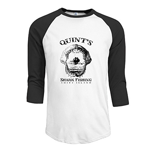 Quint's Shark Fishing Shirt Black