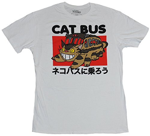 Neighbor Totoro T-ShirtRed Box Cat Bus Image Under Name