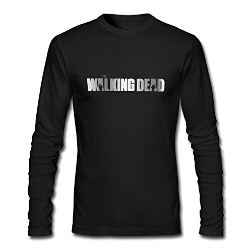 Dead TV Show Zombie Platinum Style Long Sleeve T Shirt-Black