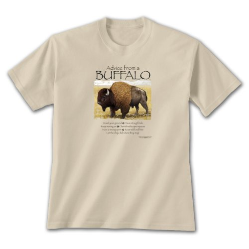 from a Buffalo Beige Graphic T-Shirt, Design by Earth Sun Moon