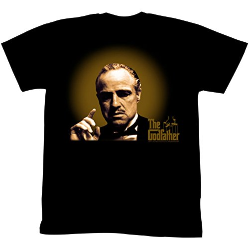 Godfather Glowing And Showing Licensed T-Shirt Black