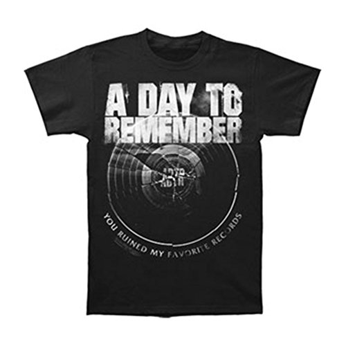 Day To Remember Broken Record T-shirt Black