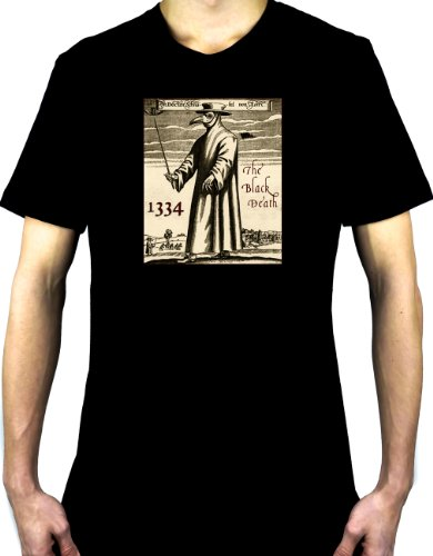 Black Death Plague T-shirt 1334 Grim Reaper Mask