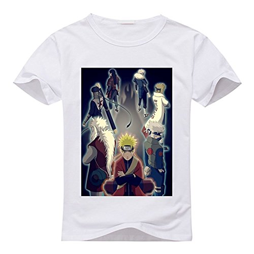 Naruto Custom Classic 100% Cotton T-Shirt White M
