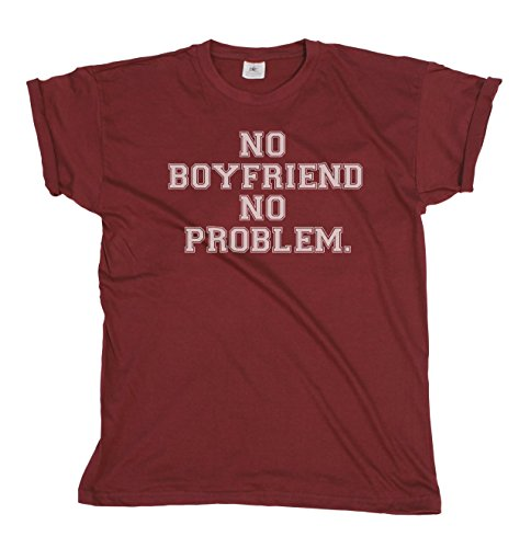 Boyfriend Problems Funny Ladies Fashion Slogan Fit T-Shirt