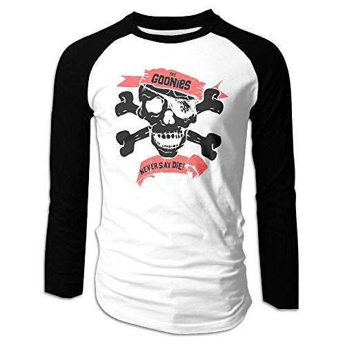 Goonies Never Say Die Rock Band Summer Long Sleeve Raglan Tee Shirts