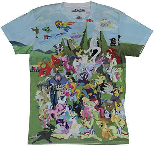 Little Pony T-Shirt Sublimation Giant Good Guy Pony Allover Image