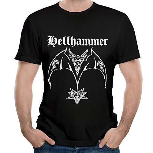 Bat Black Metal Band Tops Short Sleeve T Shirts Durability Graphic Tees Black