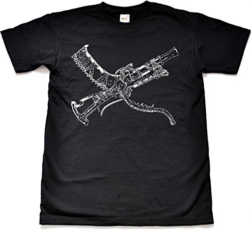 Saw Cleaver and Blunderbuss Black Gamer T Shirt
