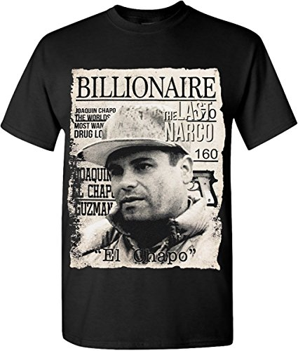 Chapo Graphic T-shirts Billionaire The Last Narco Khaki Solid Fit Tee