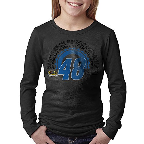 Banks Jimmie Johnson 2016 Sprint Cup Champion Teens' Long Sleeve Cool Tshirts