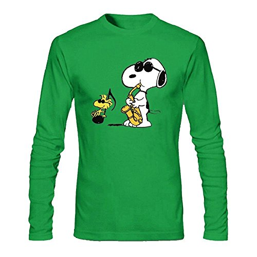 Snoopy Joe Cool Custom Causal Design Long Sleeve Cotton T Shirt