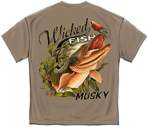 T-Shirt Wicked Fish Muskie Brown Savana