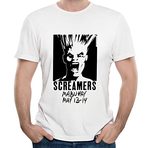Screamers Rock Band Classic Logo Vector Unique Short-Sleeved