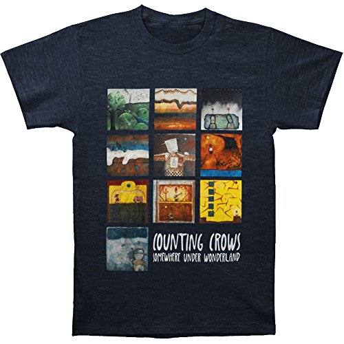 Crows Somewhere Under Wonderland Paintings Song Titles T-shirt Navy