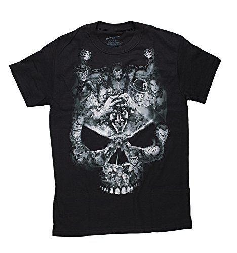 Comics Batman Villains Skull Black T-Shirt