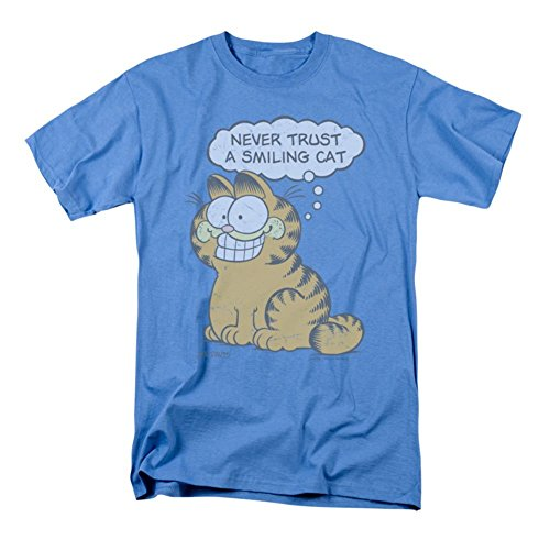 Smiling Cat T-shirt Blue