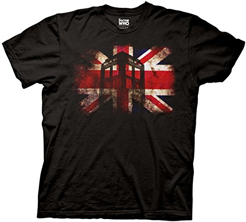 Who Glowing Tardis Union Jack T-shirt