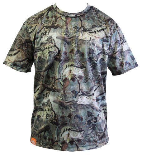 Harvey Fatigue Fish Camo T-Shirt Large Fatigue green