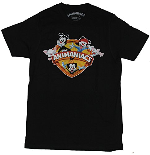 Animaniacs T-Shirt - Distressed Classic Character Adorned Logo Image