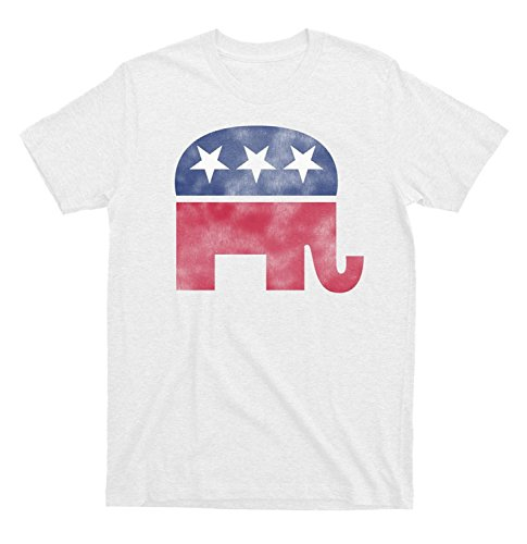 Republican Elephant White Distressed T-shirt