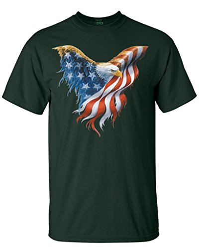 Shop4Ever® Eagle USA Flag T-shirt 4th of July Shirts
