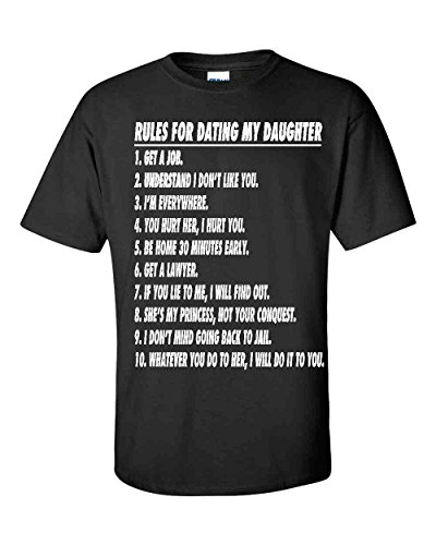 Fresh Tees Brand- Rules for Dating My Daughter Father's Day T-shirt