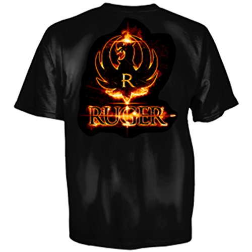 Ruger Laser Point Adult SS T-shirt by Club Red - Black