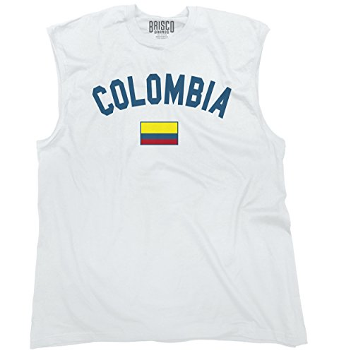 Colombia Flag World Cup Soccer Colombian National Flag Pride Sleeveless T-Shirt