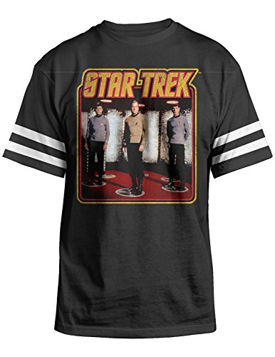 Star Trek Original Series Beam Spock Bones Kirk Unisex T-Shirt Black