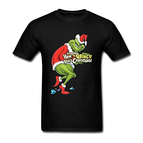 Tommery How the Grinch Stole Christmas Poster Short Cotton T Shirt